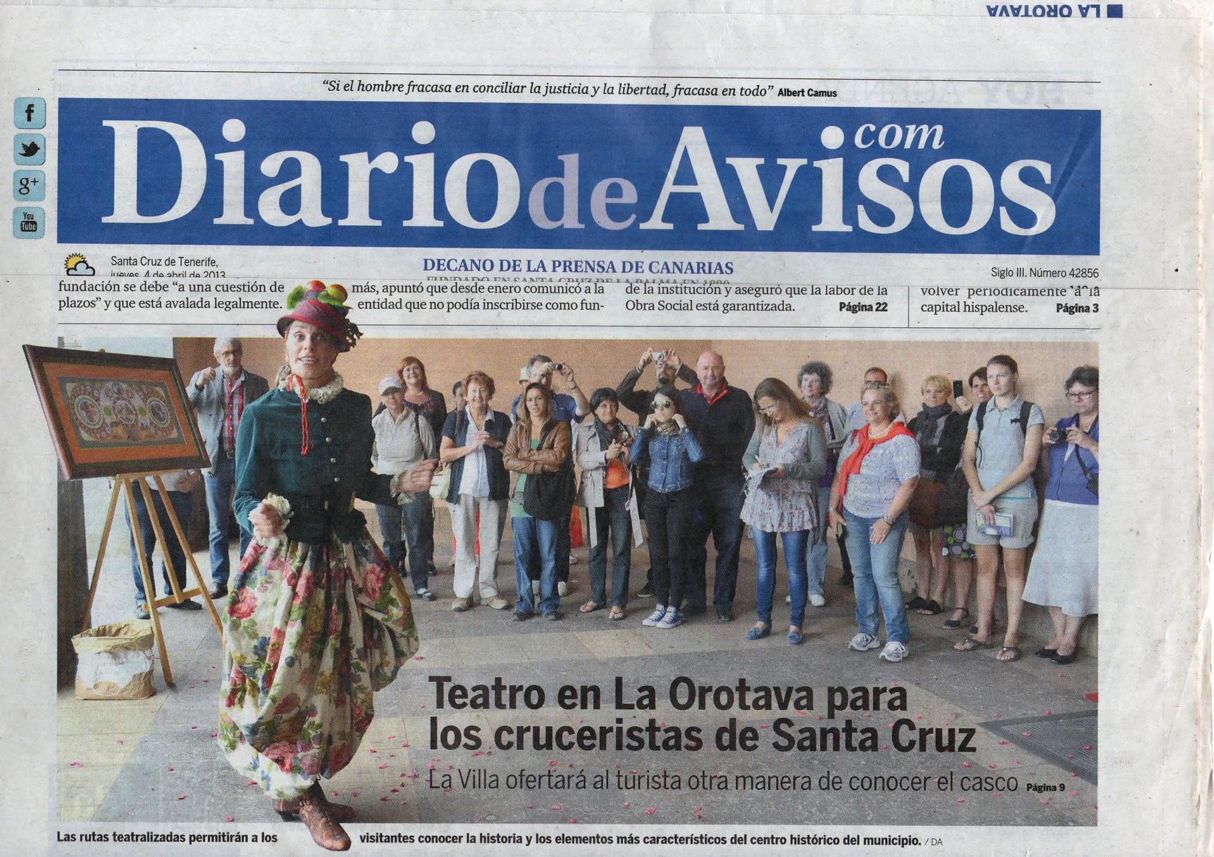 Diario de Avisos - 4 abril 2013