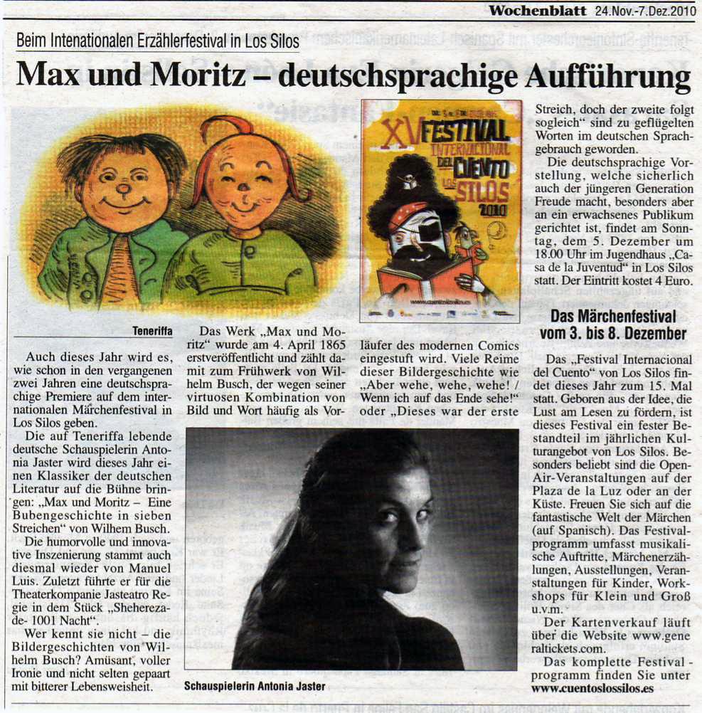 Max und Moritz Presse